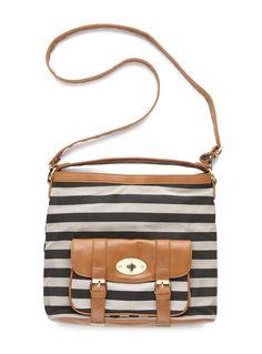 Twin stripe beggar's bag