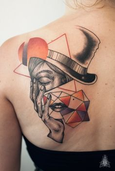 by Mopik, Musca Imago #ink #tattoo #geometry #madhatter #aliceinwonderland