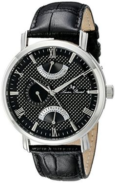 Lucien Piccard Men's LP-10340-01 Black Watch with Black Band by Lucien Piccard -- Awesome products selected by Anna Churchill