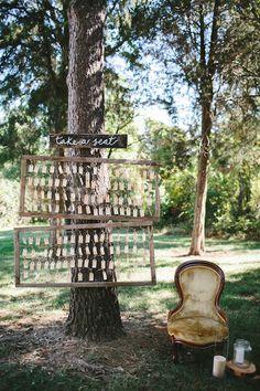 DIY take a seat seating chart ideas @weddingchicks
