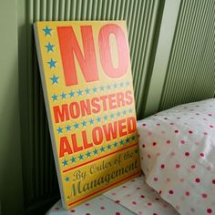 No Monsters Allowed!