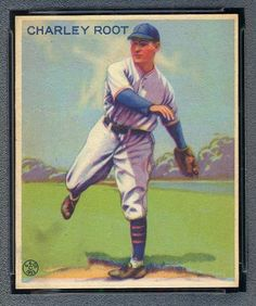 1933 Goudey Gum 226 Charlie Root Chicago Cubs baseball card