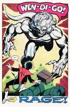 john byrne x-men | Wendigo by John Byrne. From Uncanny X-Men #139, November 1980.