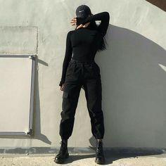 내 꼬 야 - - Source by wintermodee clothes Hipster Outfits, Edgy Outfits, Mode Outfits, Korean Outfits, Grunge Outfits, Girl Outfits, Fashion Outfits, Black Outfits, Hipster Clothing