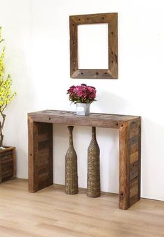 63 ideas rustic wood crafts diy entryway for 2019 Entryway Furniture, Pallet Furniture, Rustic Furniture, Rustic Console Tables, Modern Dining Table, Rustic Wood Crafts, Rustic Decor, Diy Wood, Decoration Palette
