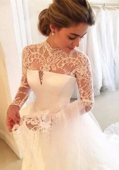 Bruna Virgínia da Silva Vestido de casamento Babyonlinedress, vestido branco e em renda