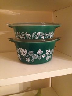 Limited Edition Gooseberry Pattern Bowls In Green JAJ