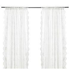 Ikea Myrten Gardinen, 1 Paar weiß (145x300cm)