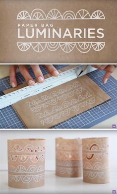 How To Create Safe Paper Bag Luminaries Diy Paper Crafts
