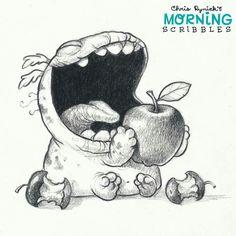 Cutest art. Chris Ryniak #morningscribbles