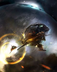 Sparth aka Nicolas Bouvier — Sci-Fi futuristic spacecraft spaceships