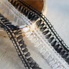 3/5 Yards Vintage Polyester Spitze Spitzenbordüre Spitzenborte Tassel DIY in Bastel- & Künstlerbedarf, Nähen, Verzierungen | eBay!