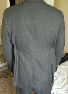 Altering a Man's Suit: Part 1 Pinning and Marking