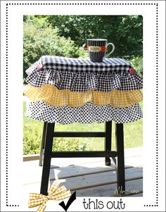 ruffled kitchen stools