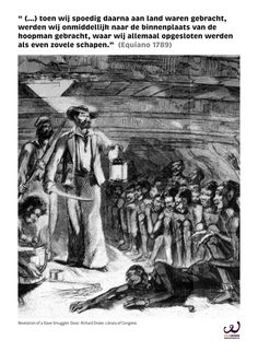 Trans-Atlantische slavernij. Onderdeel van een expositie van FairWork over slavernij vroeger en nu.