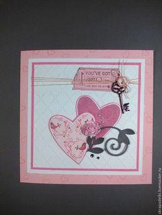 Купить или заказать открытка в интернет-магазине на Ярмарке Мастеров. открытка валентинка или признание в любви станет отличным эксклюзивным подарком, точно передающим ваши трепетные и теплые чувства к своей половинке. работа выполнена из дизайнерской бумаги с использованием ручного штампинга, вырубки, горячего эмбоссинга, тонирования, дотсов, атласных лент, полубусин. внутри можно оформить по желанию заказчика сделать кармашек для денежного подарка и разместить текст.