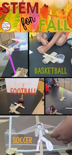 STEM for Fall: Instead of Thanksgiving and Turkeys, let's try some Fall Sports STEM challenges. Kid tested and loved- these challenges are easy to prep and full of learning!