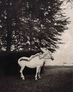 Filled with sensuality, Marc Lagrange's artistic legacy celebrate fantasies and desire placing beauty and dreams at the center of his world. Horse Girl Photography, White Photography, Photography Poses, Horse Fashion, Horse Photos, Fantasy Landscape, Beautiful Horses, Equestrian, Ideias Fashion