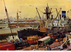 C.G. Evers (1907-2000) Illustration  for the Philadelphia Electric Company, circa 1950