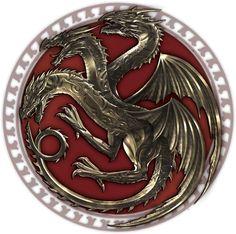 Game of thrones dragon seal logo