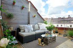Elegance and Minimalism Loft with Charming Interior Design in Sweden // terraza