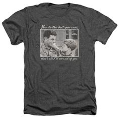 Andy Griffith/Wise Words Adult Heather T-Shirt in Charcoal