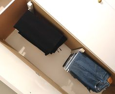 I have recently been featuring projects for updating my built-in closet and the most recent was converting shelves to drawers. In this feature I'm going to show you how easy it is to make a trouser rack that you can pull out to make hanging and storing your trousers, pants and jeans so much easier, and they will take up far less space in a closet. http://www.home-dzine.co.za/diy/diy-trousers.htm