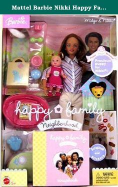 Mattel Barbie Nikki Happy Family Box Doll New (this toy is for age of 5 and up only). Brand new. official licensed product, product good for 5 years old and up.