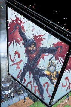 NIGHTWING #23  Written by KYLE HIGGINS  Art and cover by BRETT BOOTH and NORM RAPMUND  On sale AUGUST 14 • 32pg, FC, $2.99 US • RATED T  A city under siege as the Prankster's attacks take over Chicago! Can Nightwing find the madman before he kills again? And just what is the Prankster's endgame? Plus, don't miss Tony Zullo's shocking decision