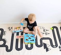 We have another order of the OYOY rugs coming soon. #cantwait How great do the colourful toys looks on this black and white play mat!  We adore toys that look good on the floor in the playroom - ON THE DINNER TABLE - Oh you know they end up there even if you try hard to make sure they don't. On the kitchen bench and on the couch. they end up all over - or is it just at my house? Thanks for this beautiful shot @my3ratbagz3614 This wooden shape sorter is a great way to teach the kids fine…