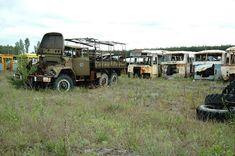 Irradiated vehicles at Rassorva, Chernobyl (Chornobyl, Чорнобиль ) region, Kyiv Oblast, Ukraine
