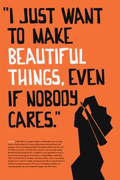 Saul Bass Poster by Brittany Krebs, via Behance | THIS IS ALL I WANT IN LIFE. and to get paid doing it.