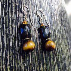 We're calling these chocolate drop earrings. Again, using pieces from a client's broken jewels, we created these irresistible lil' using and Flower Of Life, Smoky Quartz, Wind Chimes, Handmade Jewelry, Bohemian, Jewels, Drop Earrings, Chocolate, Create