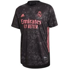 adidas Men's Real Madrid 2020/21 Authentic Third Jersey Black - L