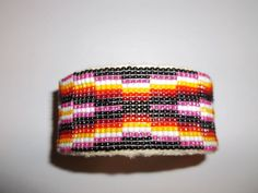 Large Native American Navajo Beaded Cuff Bracelet Melvina Antonio  #Handmade