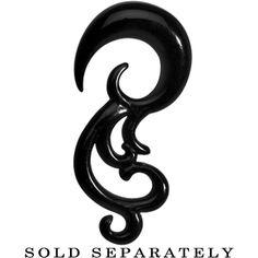 2 Gauge Black Acrylic Southwestern Swirls Taper Spiral Plug #bodycandy #trending  $2.99
