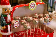 this is the cutest! buddy the elf themed party. I enjoy the son of a nutcracker sign. :)