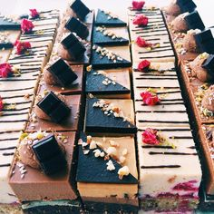 Raw Vegan Desserts, Gourmet Desserts, Fancy Desserts, Vegan Sweets, Healthy Desserts, Raw Food Recipes, Sweet Recipes, Cake Recipes, Dessert Recipes