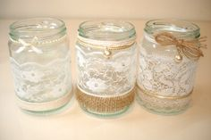 hand made floating candle jars by 'Barton Boutique'