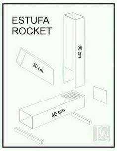 estufa rocket planos - Buscar con Google