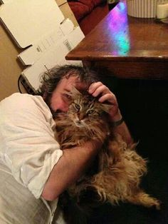 Peter Jackson and furry friend