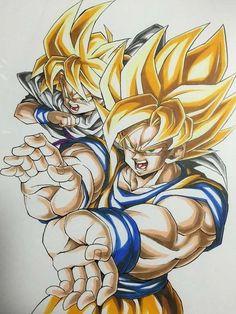 Goku SSJ & Gohan SSJ