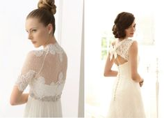 Gorgeous Outfits | lace back wedding dress pinterest