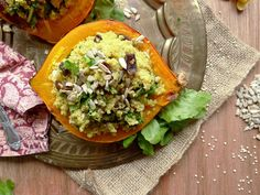 coconut quinoa stuffed squash (I'm thinking acorn would work instead of the kuri (which I've never seen here))