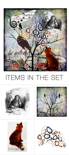 """""""Le Corbeau et le Renard"""" by alexxandrat ❤ liked on Polyvore featuring art"""