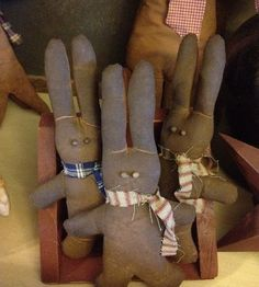 primitive crafts   New brown bunnies   Primitive Crafts