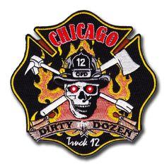 """fire patch 4/"""" x 4/"""" size IL Chicago  Engine-8 // Truck-4 // Batt.-2  /""""Chinatown/"""""""