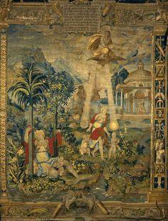 La naissance de Diane et Apollon, Laine et soie. - tenture de l'histoire de Diane, Paris, vers 1550, Ecouen, Musée national de la Renaissance