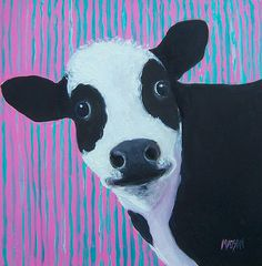 Cow painting. Prints from $32 #cow #kitchendecor #animals