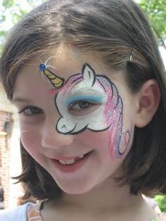 Facepainting unicorn